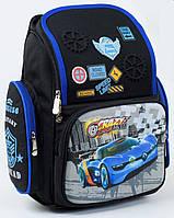 Рюкзак школьный ортопедический для мальчиков 1, 2, 3 класс, портфель, ранец полу каркасный. Черный