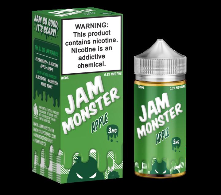 Премиум жидкость для электронных сигарет Jam Monster - Apple 100ml [3mg] (Original)