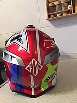 Красный Кроссовый эндуро мото шлем Fox под очки (эндуро, даунхил), фото 3
