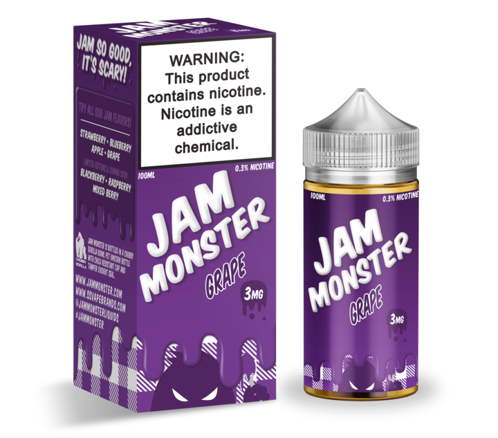 Премиум жидкость Jam Monster - Grape 100ml [3mg] (Original)