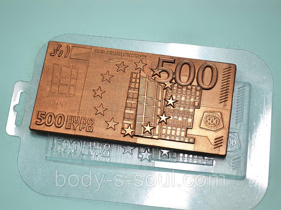 Пластиковая форма для шоколада Плитка 500 евро