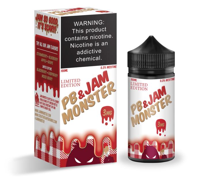 Премиум жидкость Jam Monster - PB & Strawberry Jam (LE) 100ml [3mg] (Original)