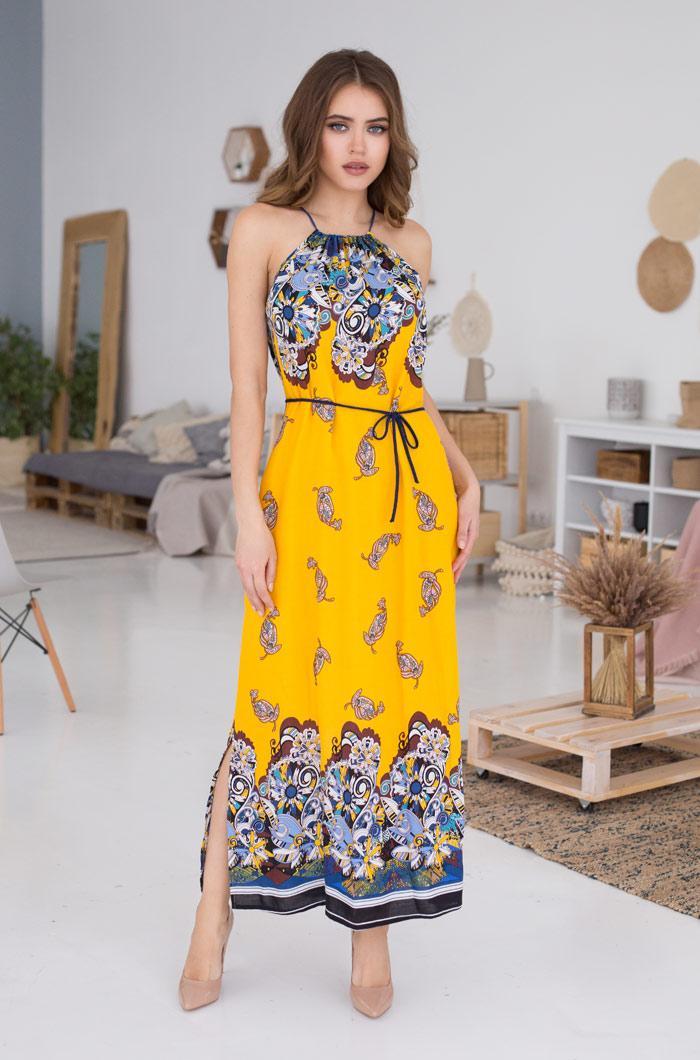 Летнее платье из легкой вискозы. Италия. Mia Mia  SOLE VIVA 16368