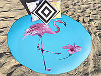 Круглое пляжное полотенце Фламинго, Турция (150 см.)
