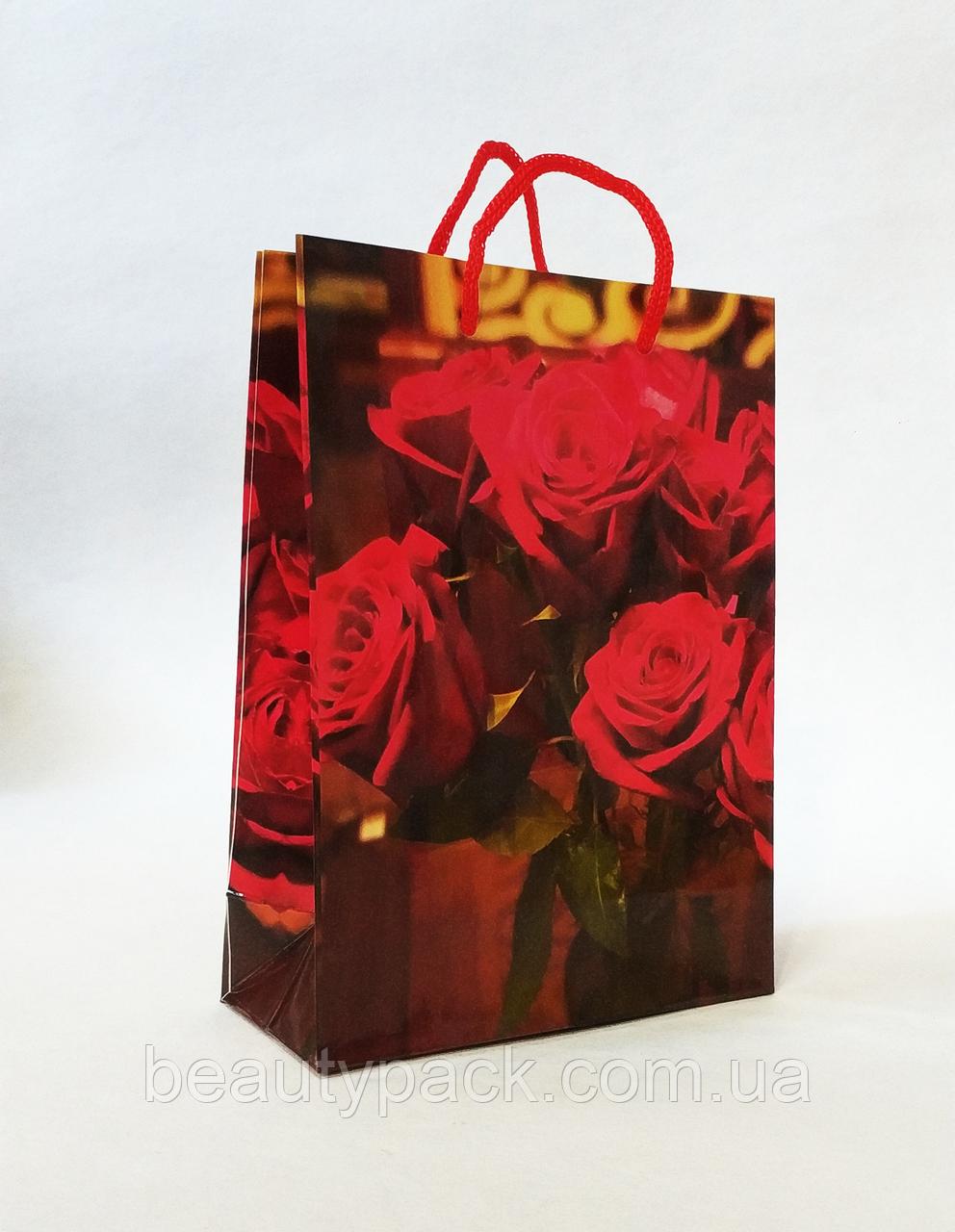 Бумажный подарочный пакет 12.5х17х5.5см / уп-12шт