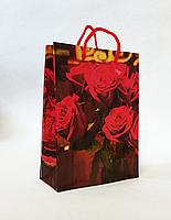 Подарунковий паперовий пакет 12.5х17х5.5см / уп-12шт