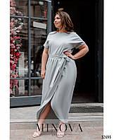 Женское летнее платье на запах Супер софт Размер 42 44 46 48 50 52 54 56 В наличии 5 цветов, фото 1