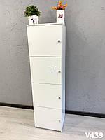 Шкаф с отдельными боксами для хранения. Модель V439 белый, фото 1