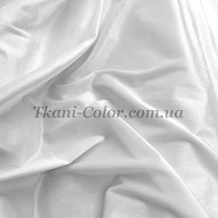 Тканина оксамит стрейч білий, фото 2