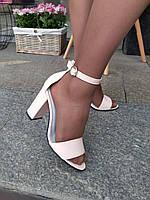 Босоножки на каблуке Lux светлая пудра, фото 1