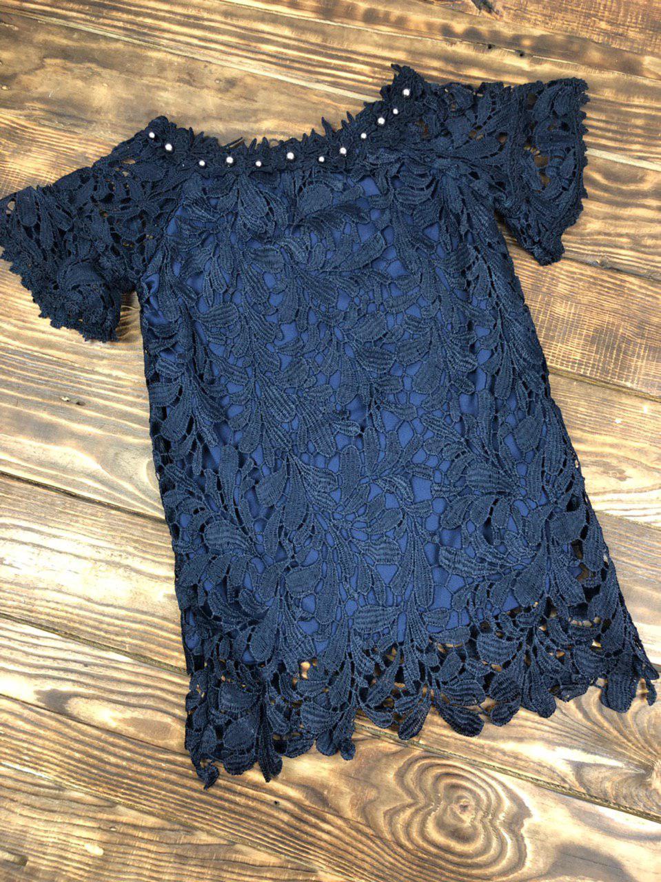 Гипюровое коктейльное платье на подкладке
