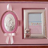 Рамочка для фотографии и икона из серебра