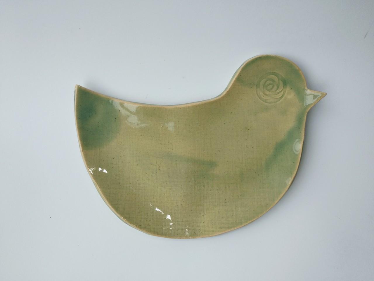 Піала керамічна, тарілка у вигляді пташки
