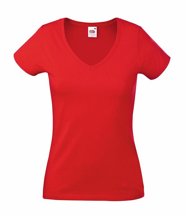 Женская футболка с v образным вырезом XL, Красный