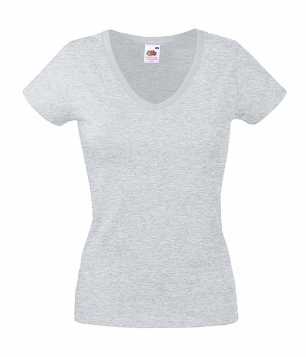 Женская футболка с v образным вырезом XL, Серо-Лиловый