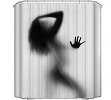 Шторка-занавеска для душа «Силуэт» 100х180 см