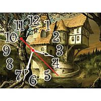 Настенные часы в детскую, часы для детей IdeaX Сказочный замок, 40х30 см