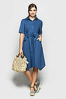 Женское летнее платье рубашечного кроя Коттон Размер 42 44 46 48 В наличии 5 цветов, фото 1