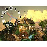 Настенные часы в детскую, часы для детей IdeaX Очаровательная усадьба, 40х30 см