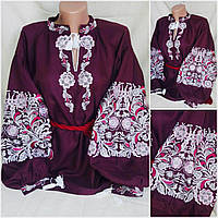 Блуза с вышивкой  на воротник стойку, фото 1