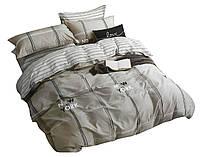 Комплект постельного белья Хлопковый Сатин NR C1367 Oulaiya 0558 Бежевый