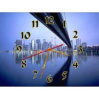 Интересные настенные часы с пейзажем IdeaX Эффектная панорама, 40х30 см