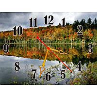 Интересные настенные часы с пейзажем IdeaX Удивительный лес, 40х30 см