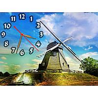 Интересные настенные часы с пейзажем IdeaX Рассекая воздух, 40х30 см