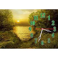 Оригинальные настенные часы для декора интерьера IdeaX с пейзажем Манящее лето, 45х30 см