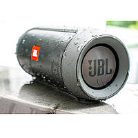 Портативная Bluetooth колонка JBL Charge 2+ серая Влагозащищенная ДЖБЛ ЖБЛ FM, MP3, радио качественная реплика