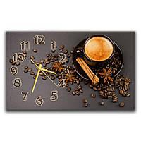 Кухонные настенные часы IdeaX Кофе с корицей, 30х50 см