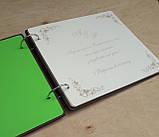 Гостьова книга для побажань та фото з дерев'яна яними обкладинками, фото 6