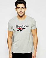 Мужская спортивная футболка Reebok, Рибок, серая