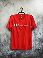 Мужская спортивная футболка Champion, Чемпион, красная