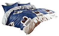 Комплект постельного белья Хлопковый Сатин Детский NR C1258 Oulaiya 1686 Бежевый, Синий