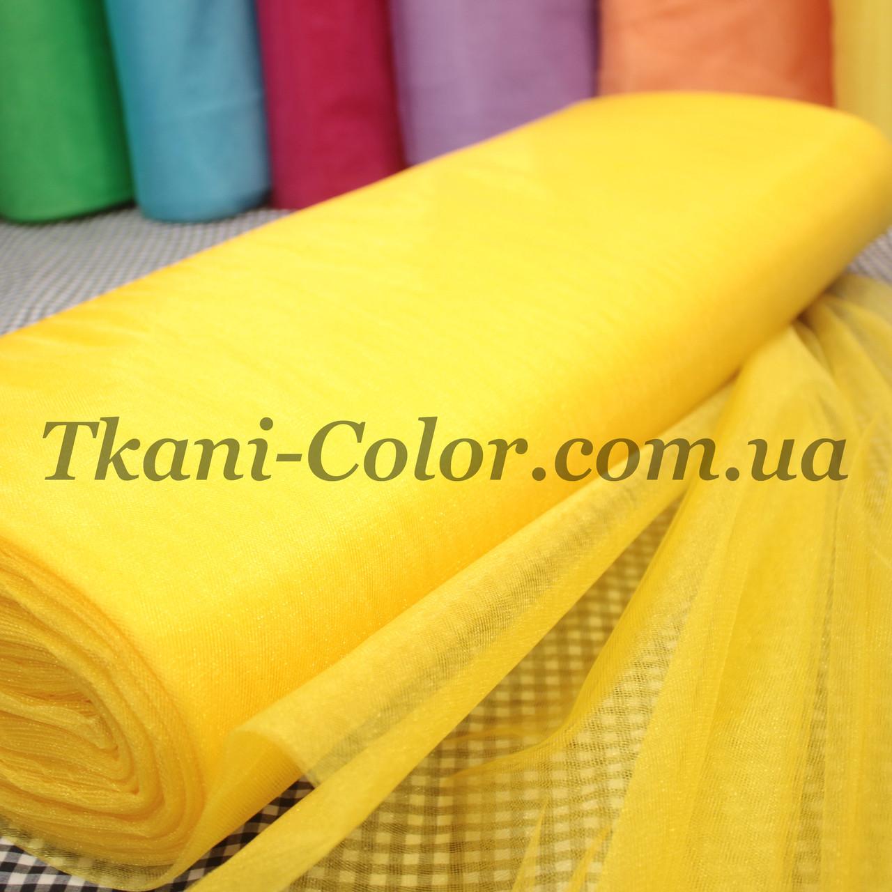 Ткань фатин средней жесткости желтый