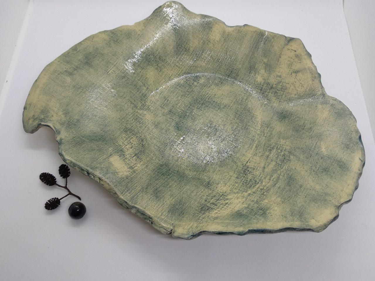 Блюдо-тарілка керамічна ручної роботи
