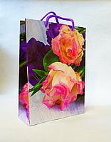 Подарунковий паперовий пакет 18х24х7см / уп-12шт