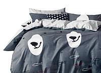 Комплект постельного белья Хлопковый Сатин Двухсторонний NR C1232 Oulaiya 8954 Белый
