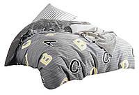 Комплект постельного белья Хлопковый Сатин NR C1355 Oulaiya 2676 Серый, Желтый