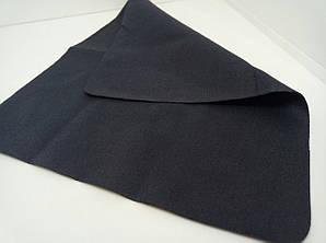 Салфетка микрофибра черная гладкая