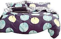 Комплект постельного белья Хлопковый Сатин Двухсторонний NR C1305 Oulaiya 8722 Фиолетовый, Синий, Желтый