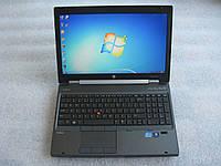 15,6' ноутбук HP EliteBook WorkStation 8570w i5 2.8GHz 4G 500GB ATI HD7700 1G web-cam HD+ АКБ 1ч#800