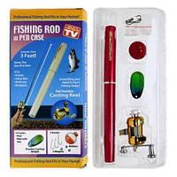 Удочка Складная походная мини Катушка ручка fishPen спиннинг Карманная