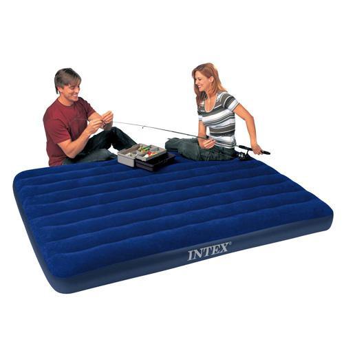 Двуспальный резиновый матрас Intex 68759 (203 см х 152 см) темно-синего цвета