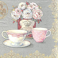 Салфетка для декупажа Чайные чашки 4651