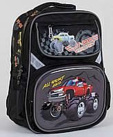 Рюкзак школьный ортопедический для мальчиков 1, 2 класс, портфель, ранец Джип. Черный