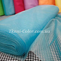 Ткань фатин средней жесткости голубая бирюза