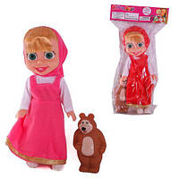 """Лялька """"Маша і Ведмідь"""" 25см, 2 види, музична 34*16*7см 74755"""