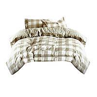 Комплект постельного белья Хлопковый Сатин NR C1175 Oulaiya 5807 Бежевый, Кремовый